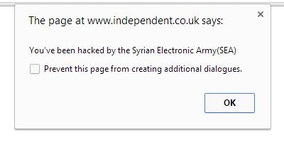 Syrian Electronic Army notification