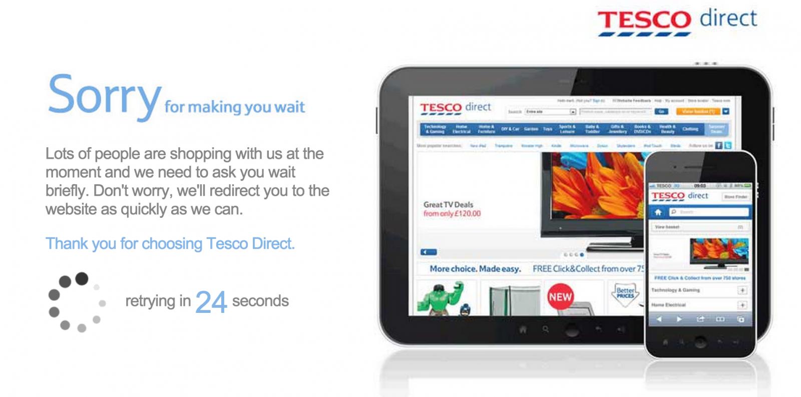 Tesco Black Friday Deals Website Offline