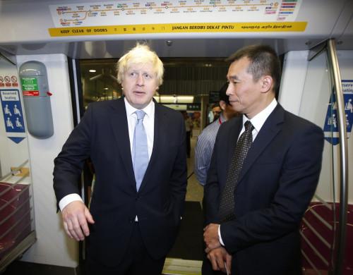 Boris Johnson Takes a Seat on Singapore's Public Transport