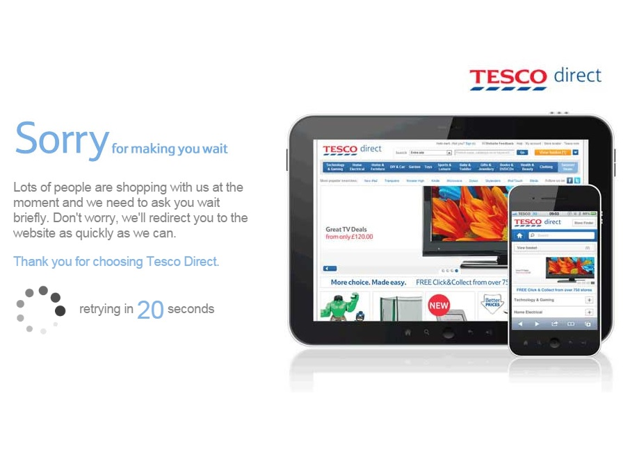 Tesco Black Friday deals website