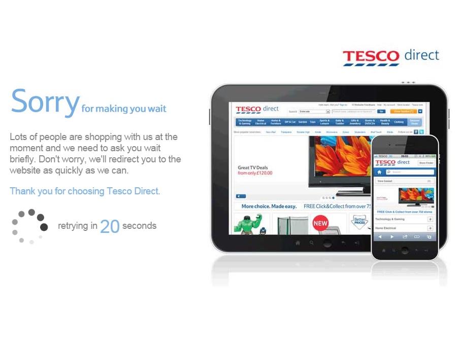 Tesco Black Friday deals website