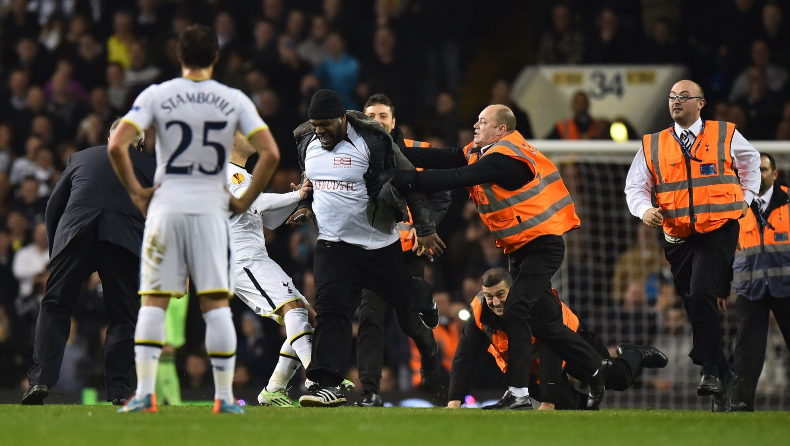 Tottenham pitch invaders
