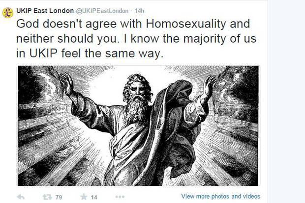 Ukip civil war over homophobic tweets sent from Ukip Twitter account