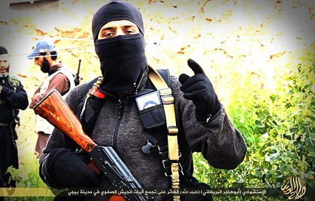 An Isis terrorist from Britain called Abu Hajar al-Britani has blown himself up in Iraq