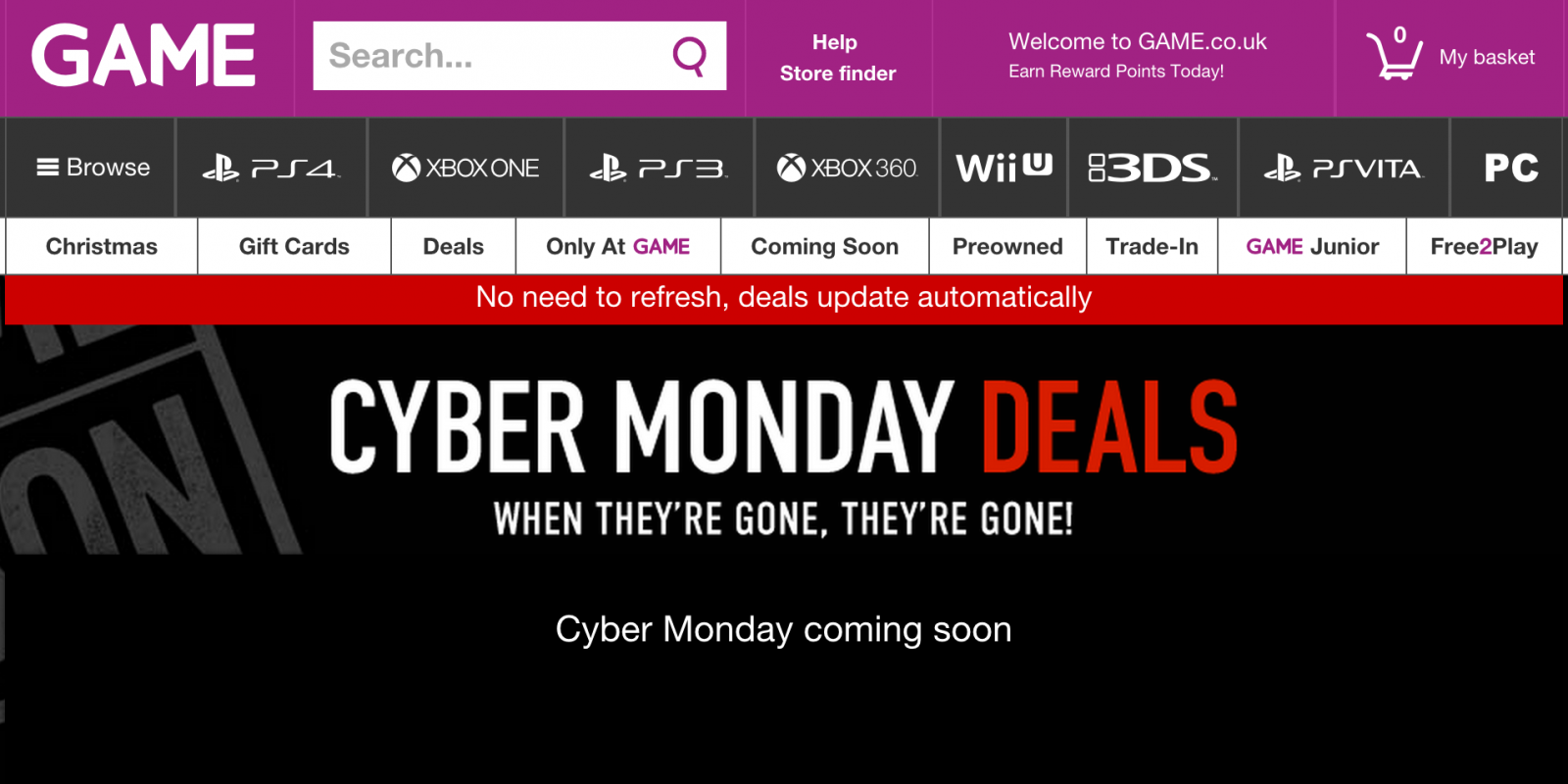 Game Cyber Monday