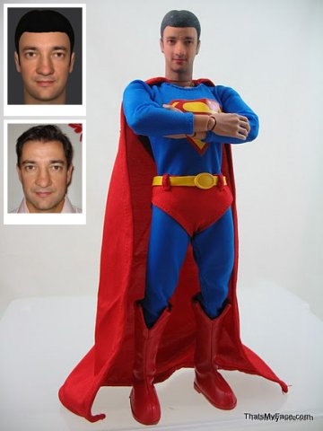 Life-size Superman urn. (Cremation Solutions)