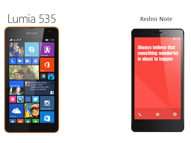 Microsoft Lumia 535 Vs Xiaomi Redmi Note: A Basic Comparison of the 'Budget' Pure Mid-Rangers