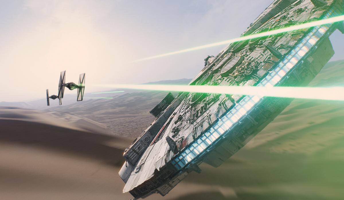 Star Wars 7 Tie Fighter Millennium Falcon