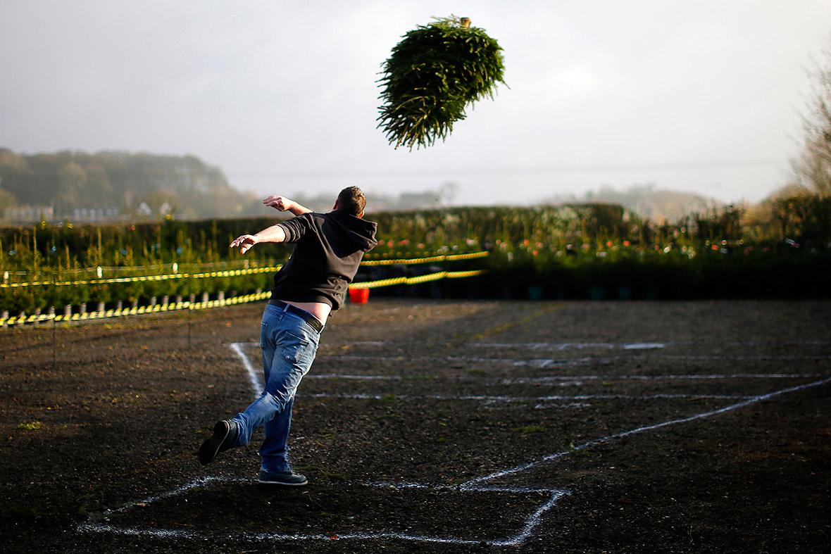 Christmas tree throwing