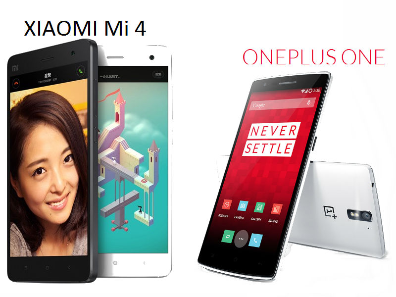 Xiaomi Mi 4 vs OnePlus One: Basic comparison of the Chinese flagship smartphones