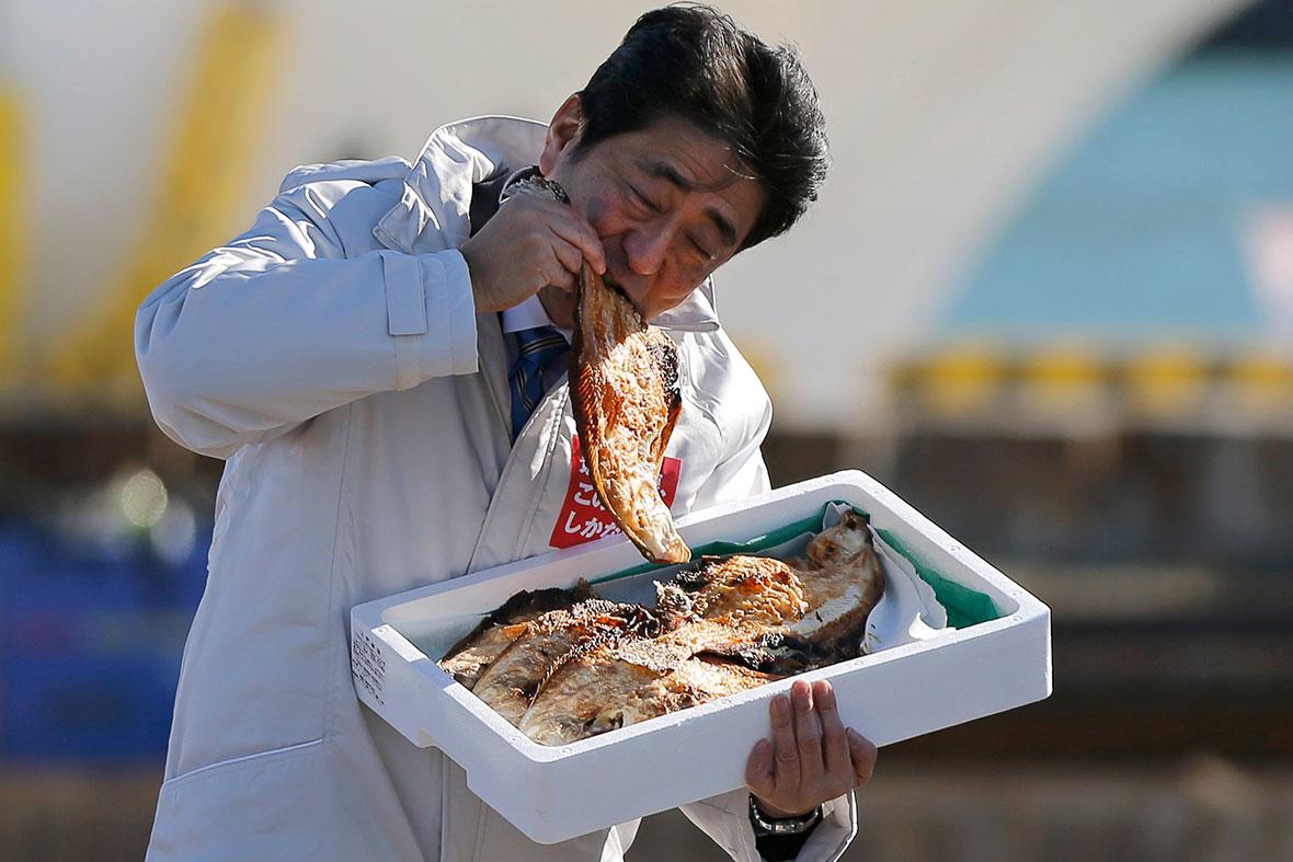 Japan PM fish