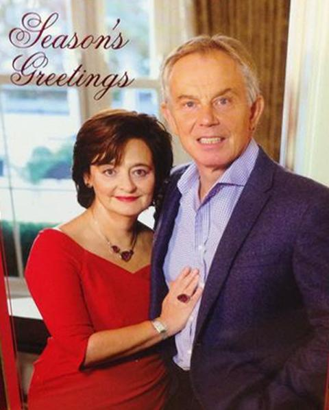 Tony Blair Christmas Card