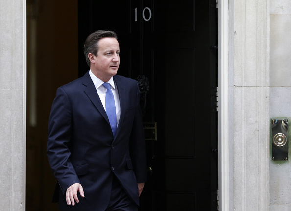 David Cameron at 10 Downing Street