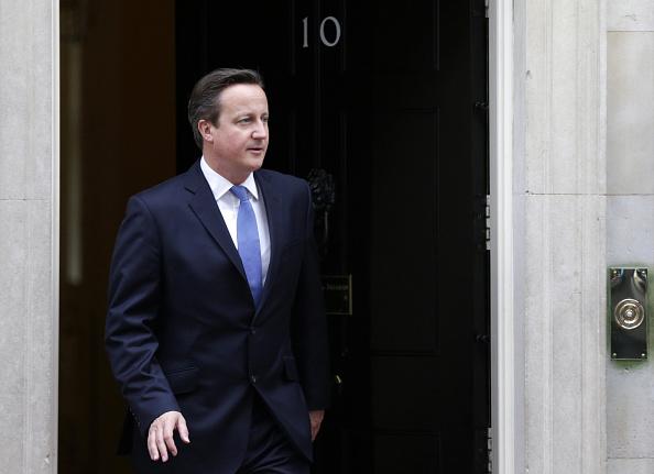 David Cameron at 10 Downing Street