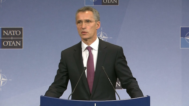 NATO foreign ministers condemn Russian military build-up