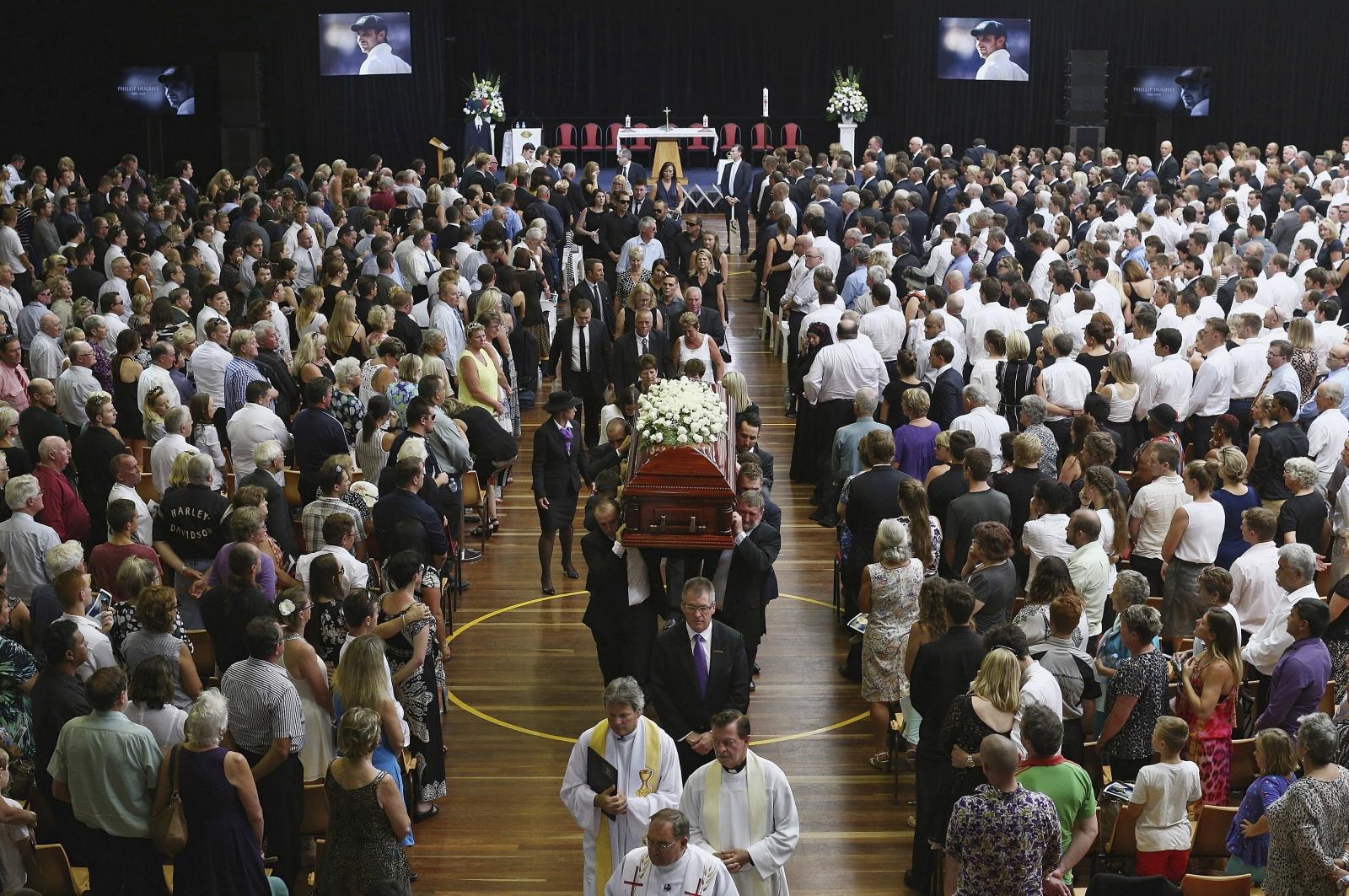 Australian cricketer Phil Hughes funeral