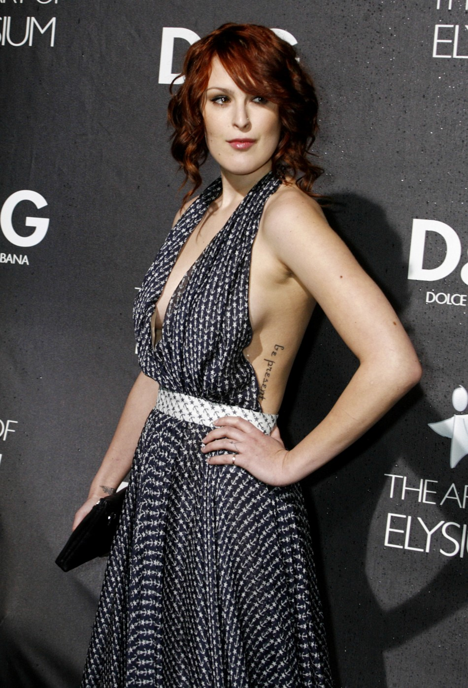 Actress Rumer Willis at the opening of the Dolce & Gabbana flagship boutique in Los Angeles