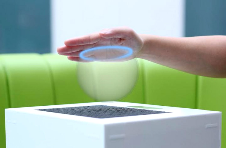Researchers have focused ultrasound waves to create invisible objects that can be felt and seen