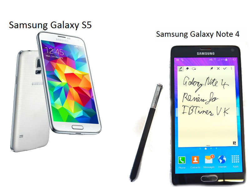 Samsung Galaxy Note 4 vs Galaxy S5: Technical comparison of two of the best high-end smartphones of 2014