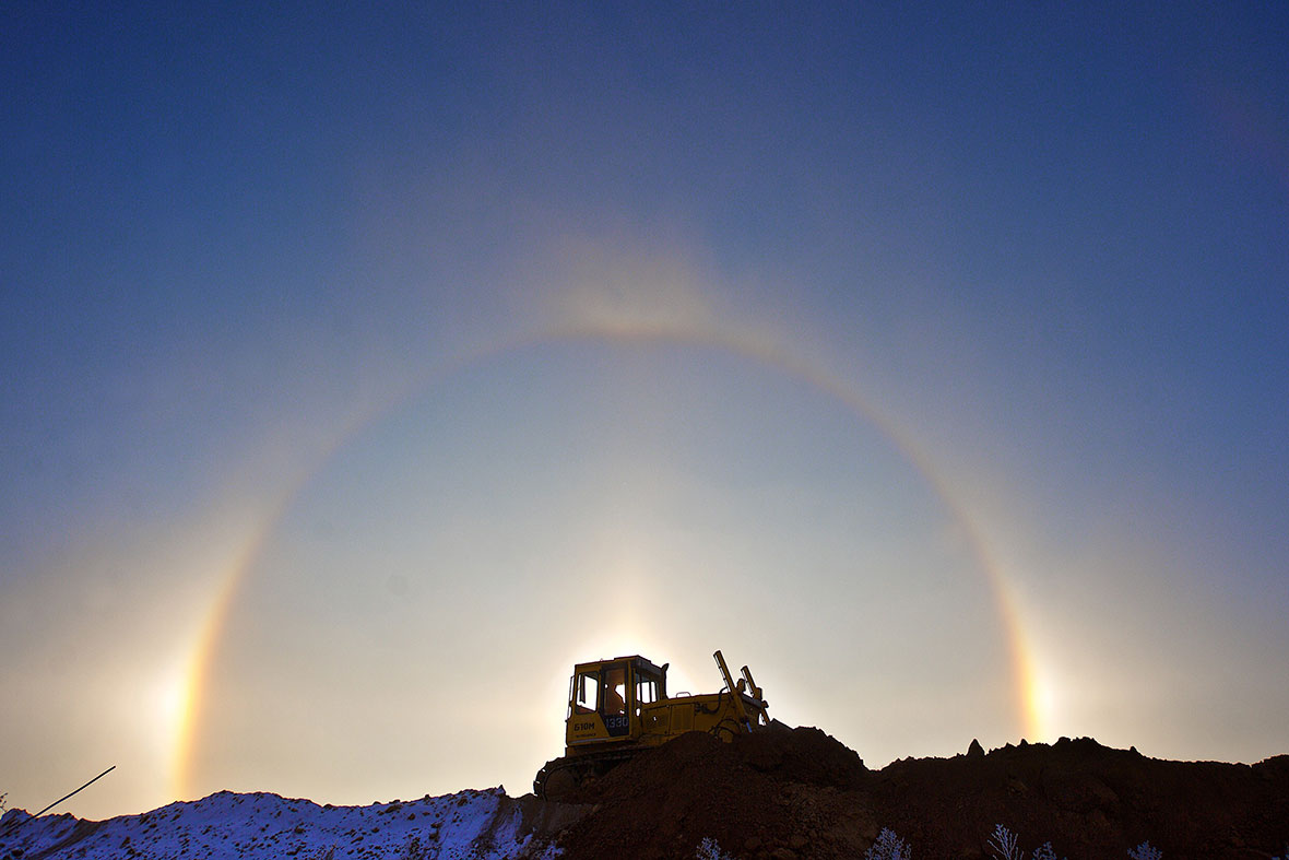 ice halo sun