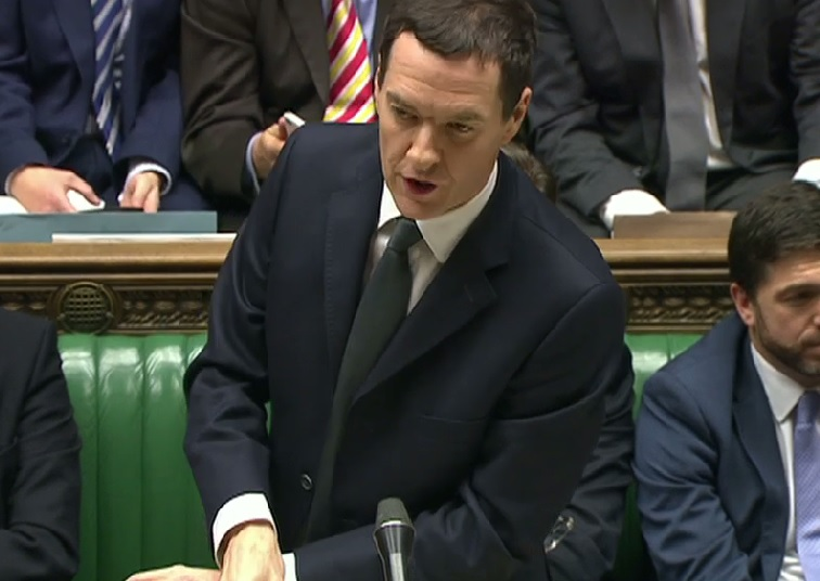 Osborne in House of Commons delivering his Autumn Statement