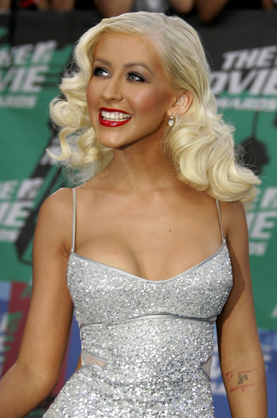 Singer Christina Aguilera arrives at the taping of the 2006 MTV Movie Awards in Los Angeles