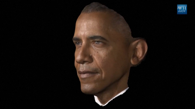 Obama becomes first President to have portrait completed via 3-D scanning process