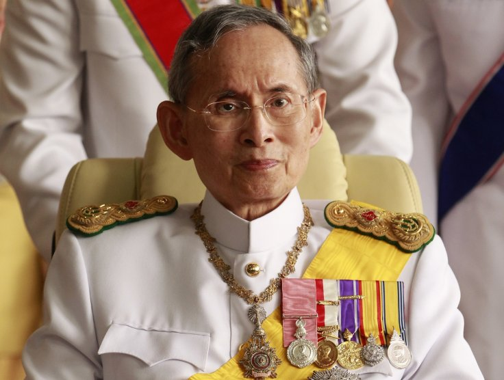 Suspects in Thailand corruption scandal  accused of  exploiting monarchy (King Adulyadej, above)  for personal gain