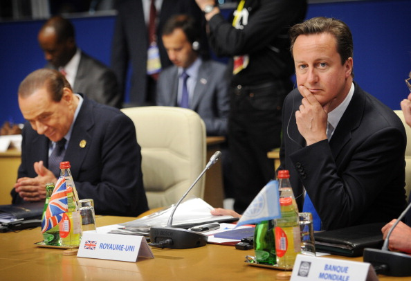 Silvio Berlusconi and David Cameron