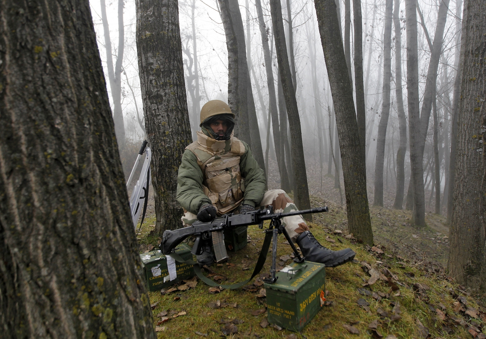 Gunfire in Indian Kashmir's army camp