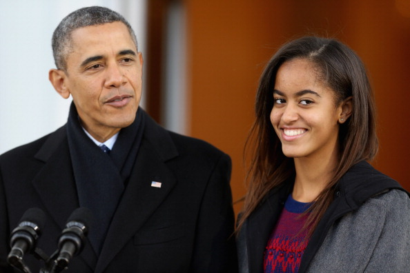 US President Barack Obama's teenage daughter Malia is not pregnant.