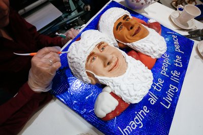 Putin Obama cake