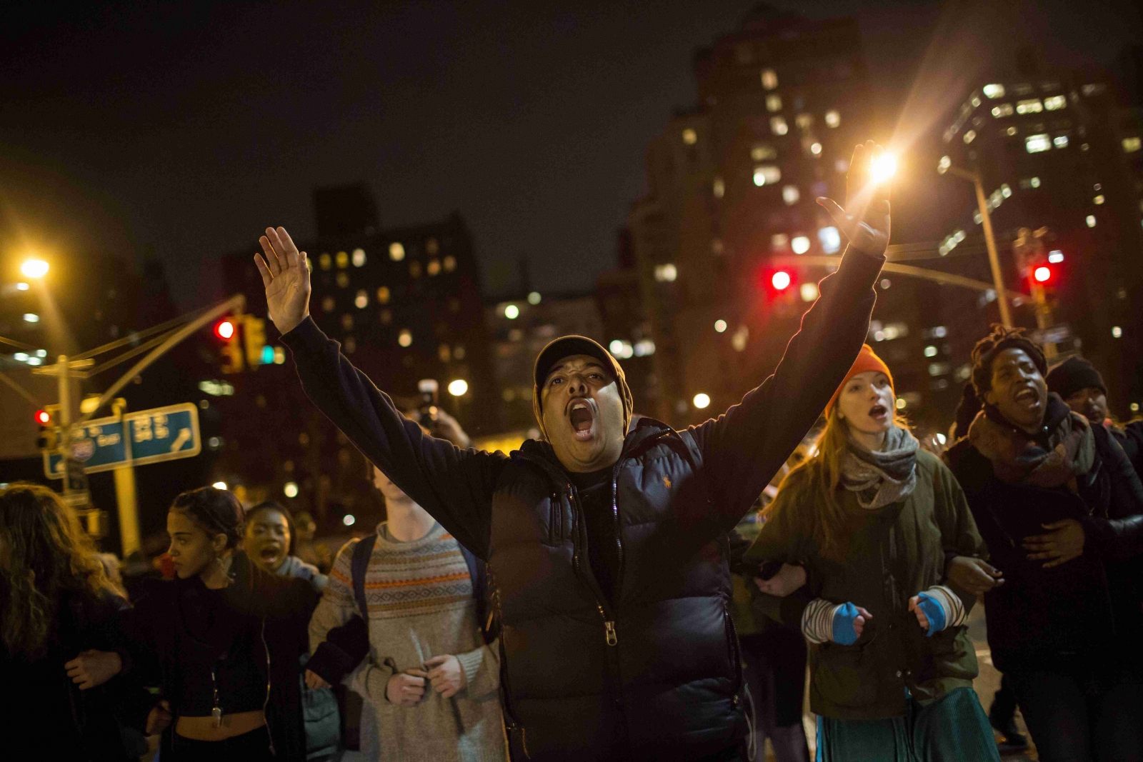 Second night of Protests and arrests in Times Square over Garner death