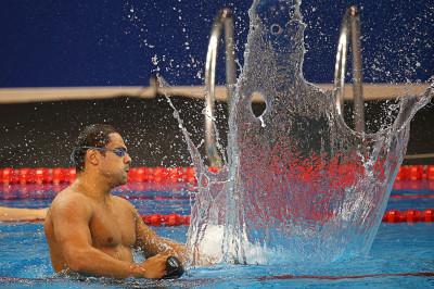 swimmer splash