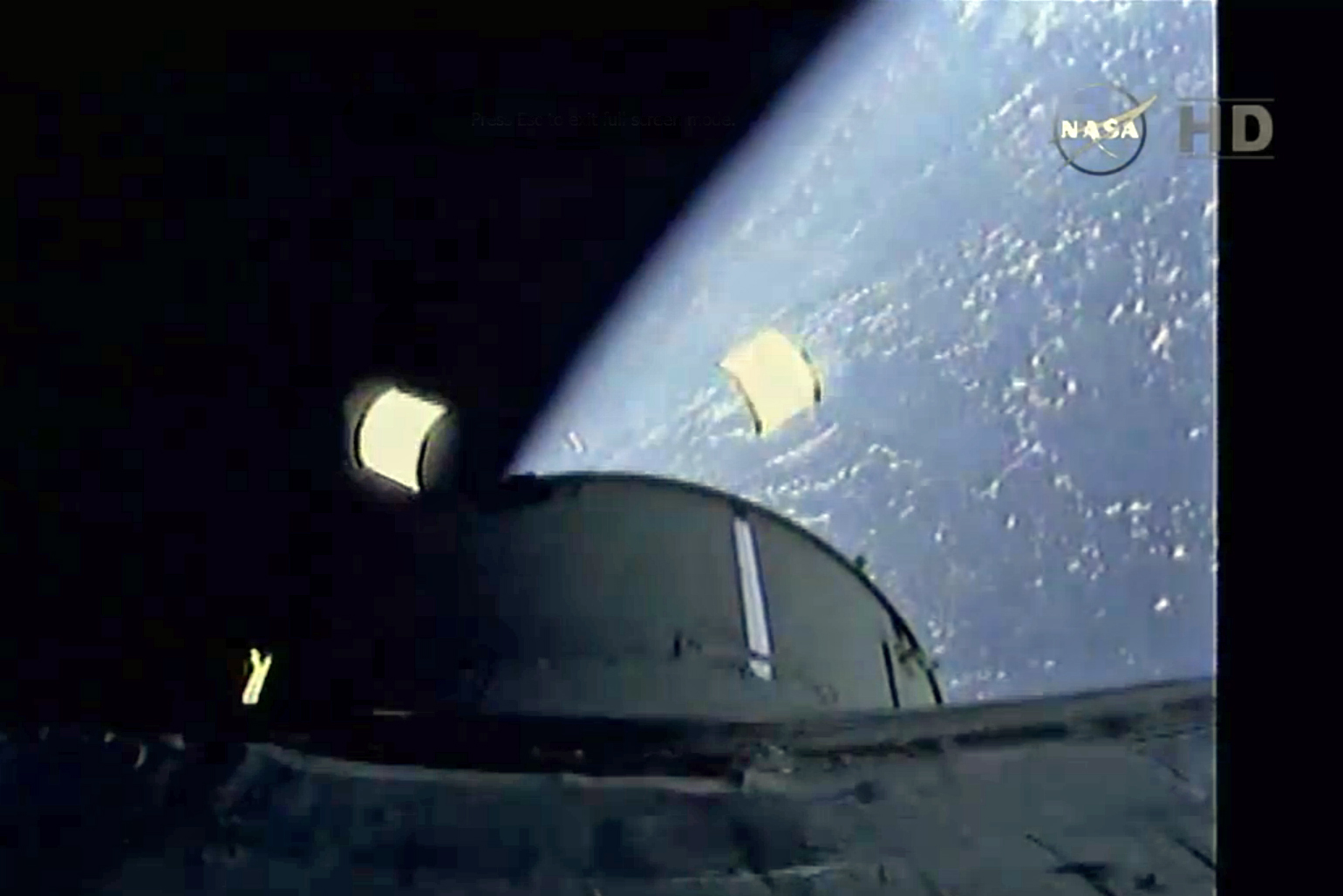 Seven minutes into the mission, the first two critical milestones were completed as Orion's service module fairing separated from the rocket