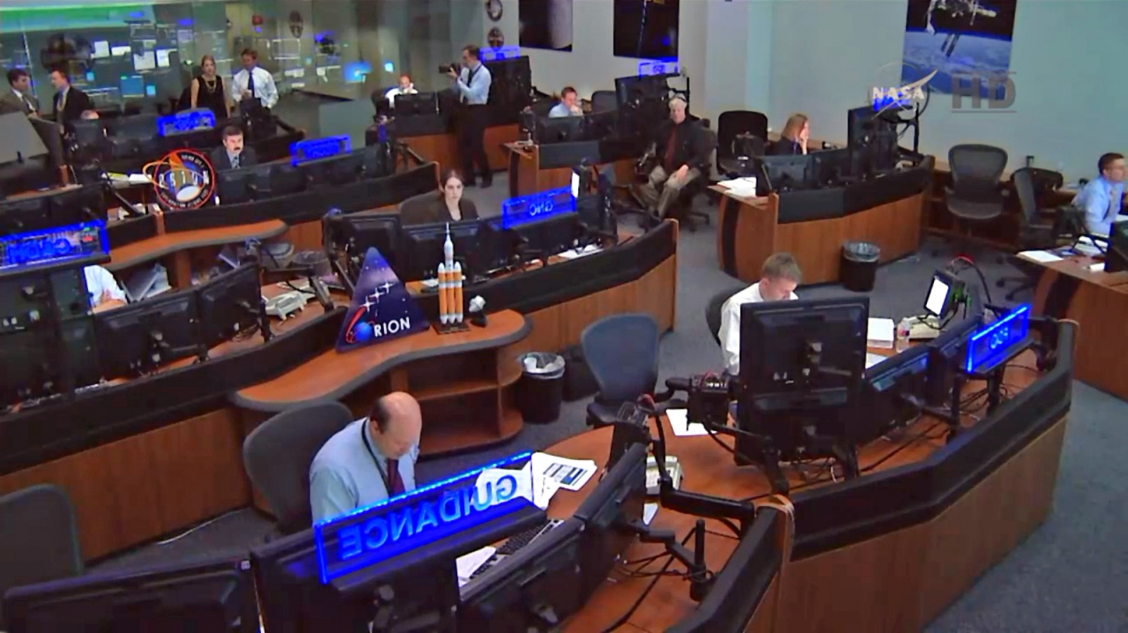 The Orion Mission Control Center at NASA's Johnson Space Center in Houston