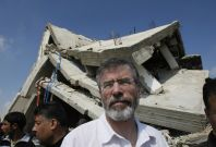 Gerry Adams has been banned from Gaza by Israel