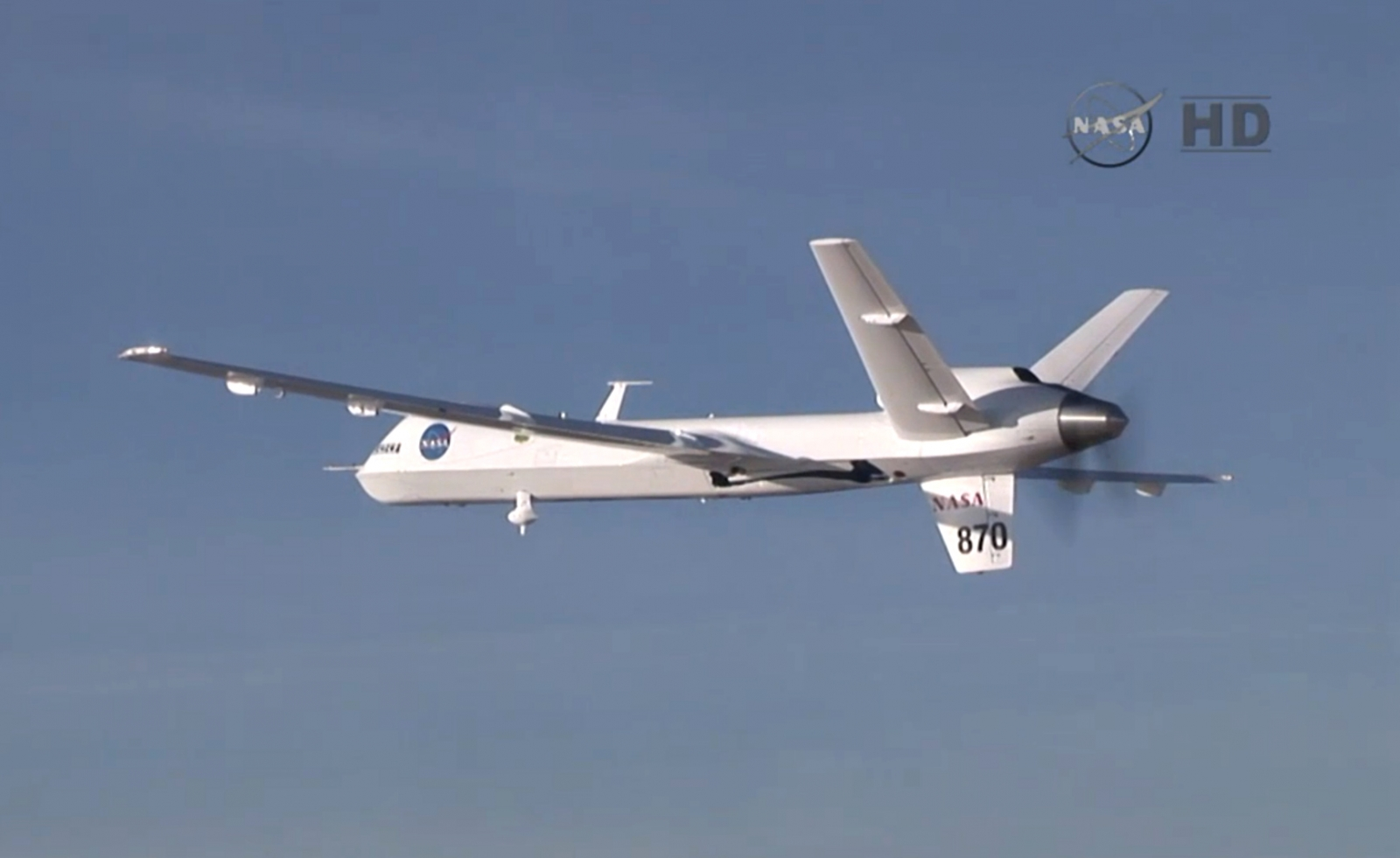 Nasa's Ikhana unmanned aerial vehicle that took video footage from the air over the Pacific ocean