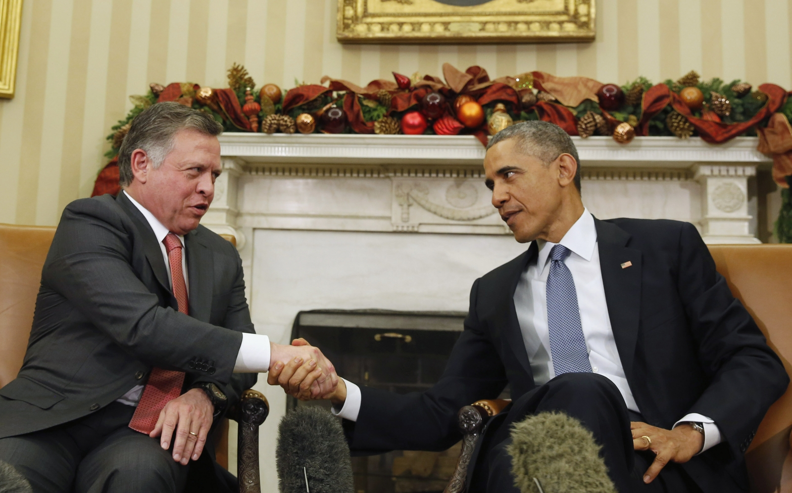 Jordan King Abdullah US President Barack Obama