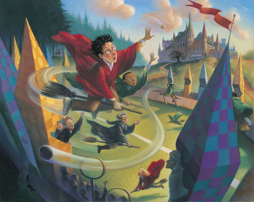 Harry's first Quidditch match in Harry Potter and the Sorcerer's Stone