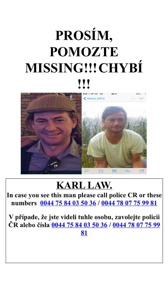 Karl Law missing prague stag weekend poster