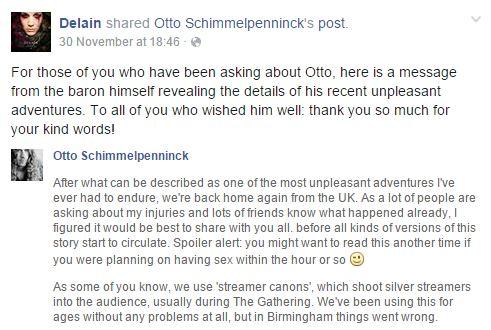 Delain facebook testicle otto schimmelpenninck gig tour dates