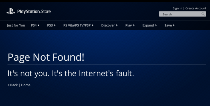 PlayStation Store Offline