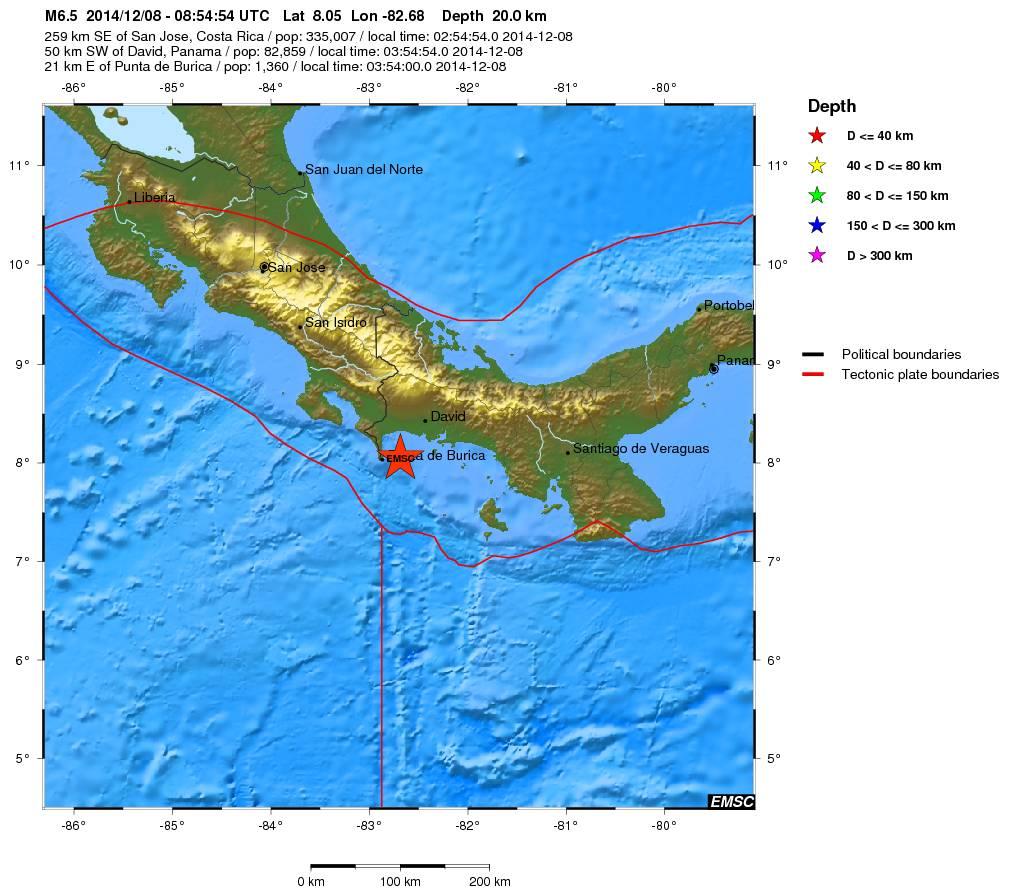 panama earthquake