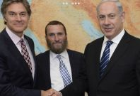 """Shmuley Boteach (middle) with Benjamin \""""Bibi\"""" Netanyahu is an Israeli politician and the current Prime Minister of Israel (right)"""