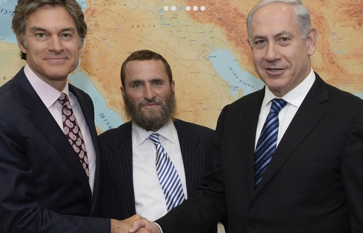 "Shmuley Boteach (middle) with Benjamin ""Bibi"" Netanyahu is an Israeli politician and the current Prime Minister of Israel (right)"