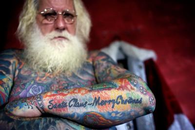 santa tattoos