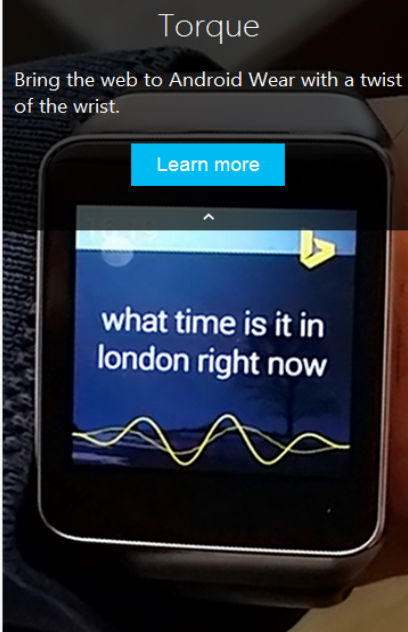 Microsoft Torque Voice Search for Android Wear and Phones: Alternative to