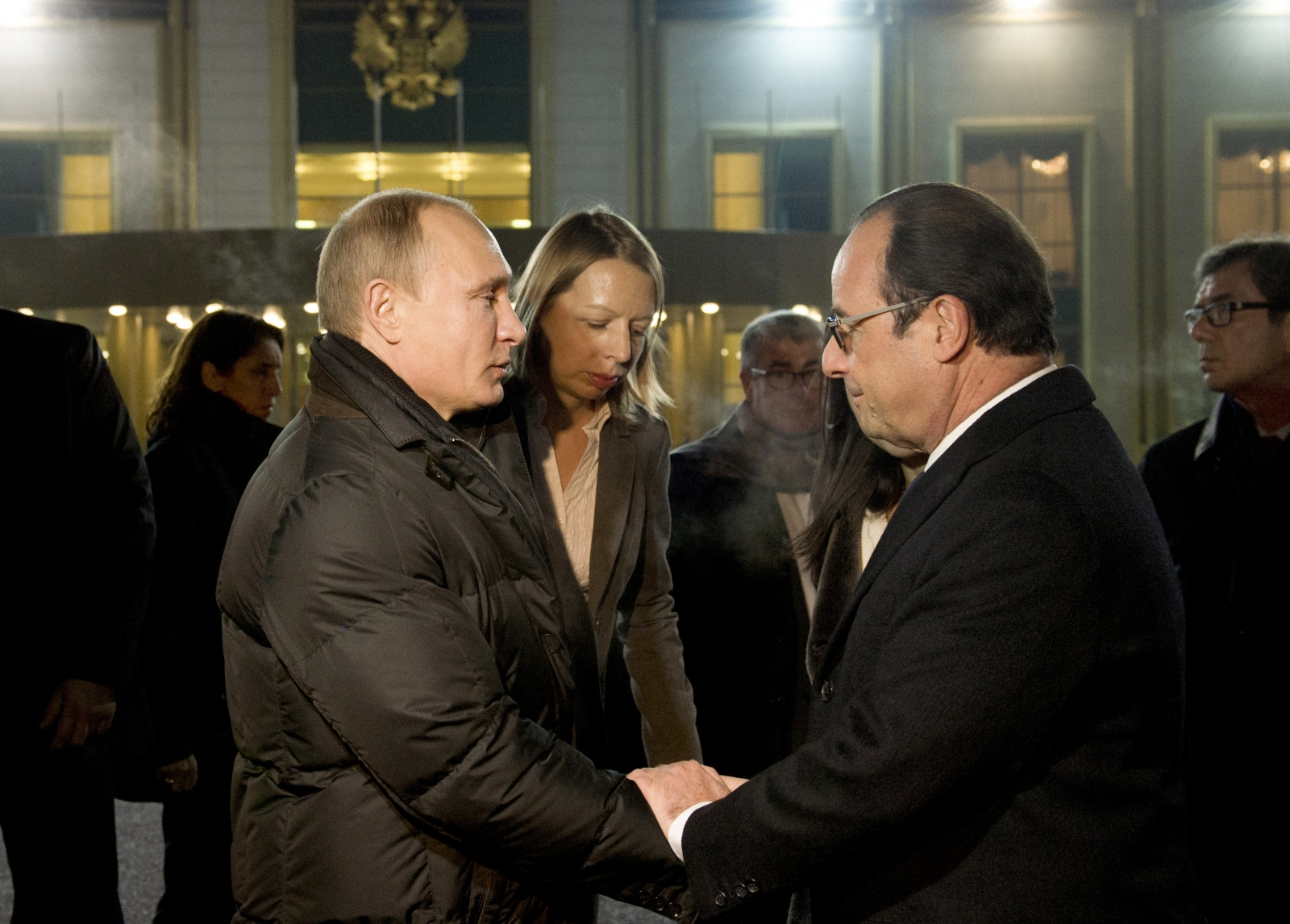 Vladimir Putin Francois Hollande