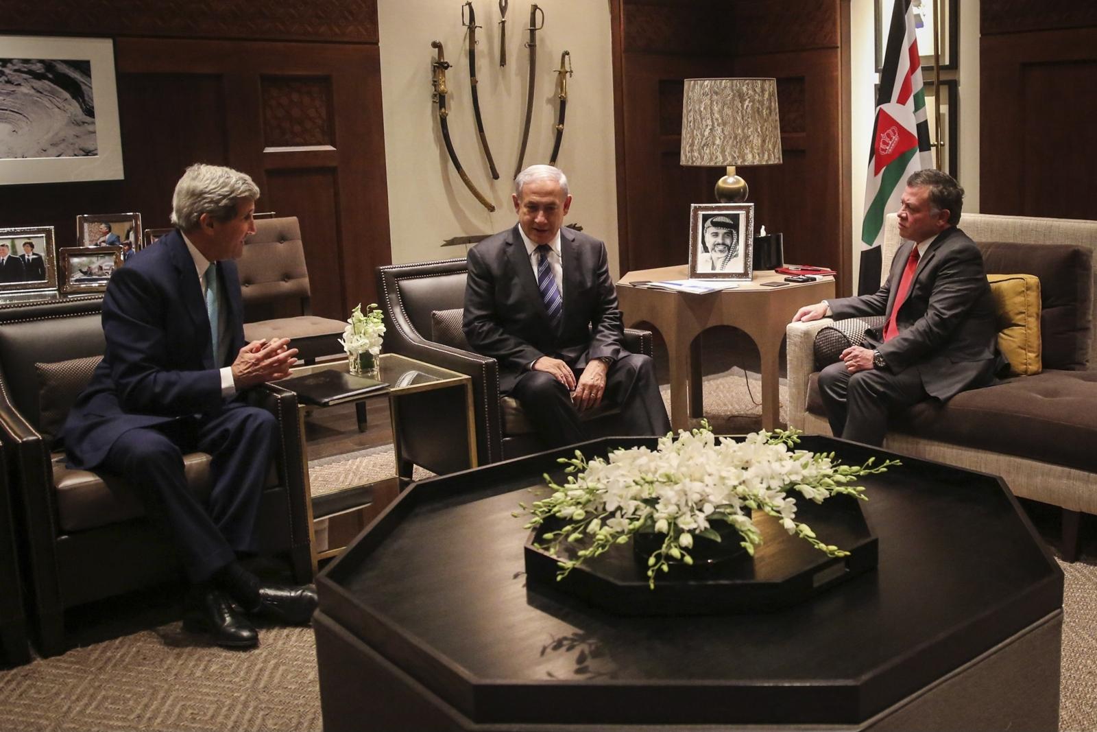 John Kerry King Abdullah Benjamin Netanyahu